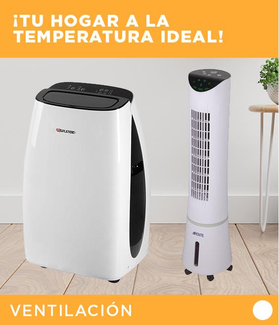 Etiqueta Ventilación y Aires Acondicionados | Tu hogar a la temperatura ideal  | Logos SPLENDID, Calma, Midea, Kendal