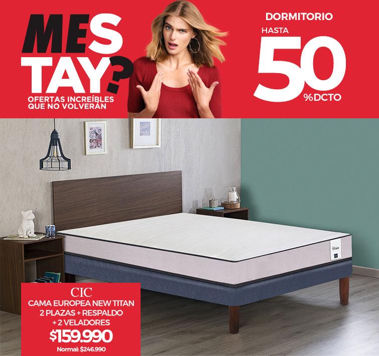 Hasta 50% dcto. en Dormitorio | Divan Rosen 1,5 Plazas Ergo-T