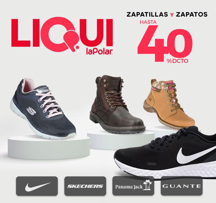 Zapatillas y Zapatos hasta 40% dcto.   Logo Marcas: Nike - Skechers - Puma - Panama Jack - Guante - CAT