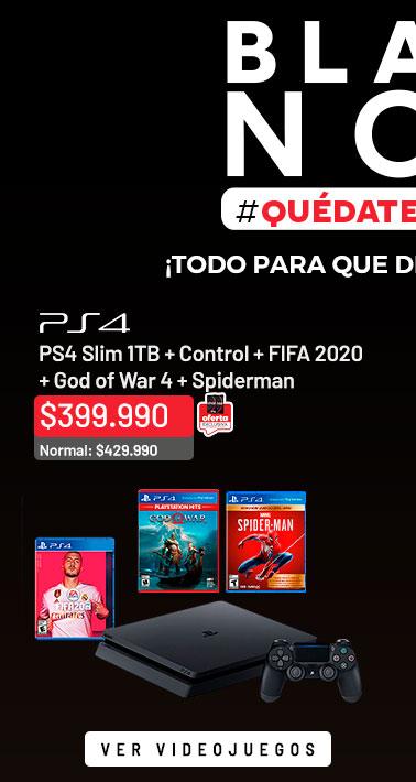 ¡Todo para que disfrutes en casa! (al medio) | PS4 Slim 1TB + Control + 3 Juegos + Cupón Fortnite + FIFA 2020