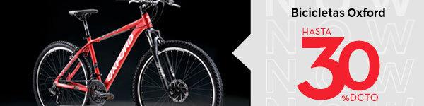 Bicicletas Oxford hasta 30% dcto.
