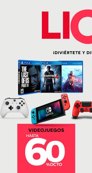 Botón Ver Entretención   Hasta 60% dcto. en Videojuegos