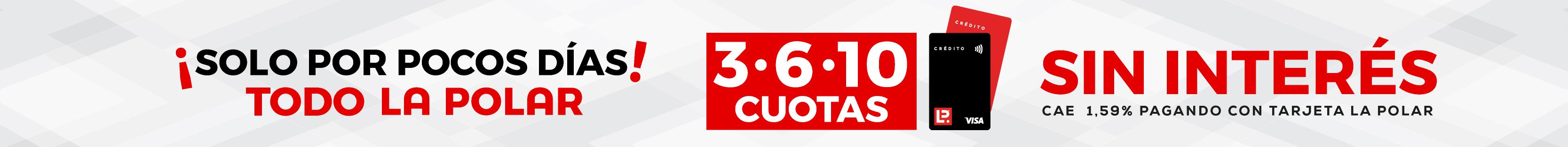 3, 6, 10 Cuotas