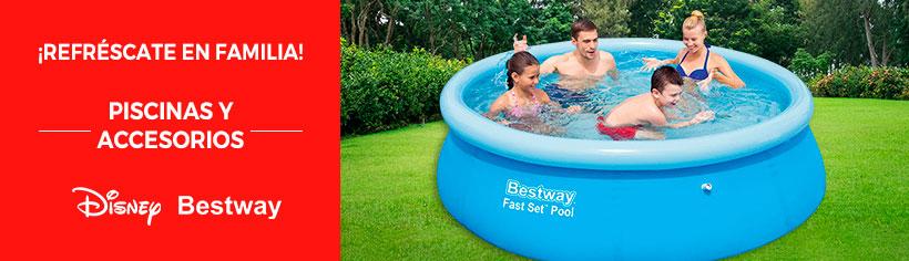 ¡Refréscate en familia! | Piscinas y Accesorios | Logo Marcas: Bestway - Casanova - Disney