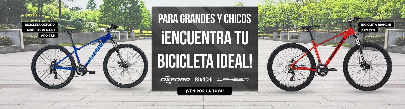 Para grandes y chicos | ¡Encuentra tu Bici ideal! | Logo Marcas: Oxford - Bianchi - Lahsen