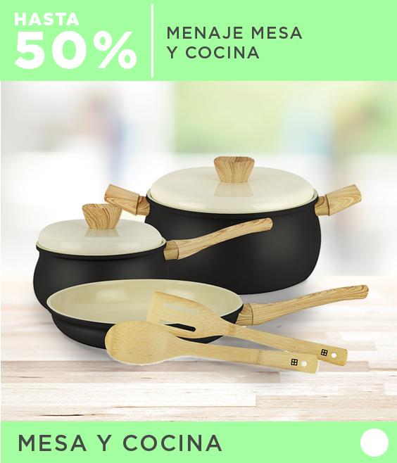 Hasta 50% dcto. en Menaje Mesa y Cocina