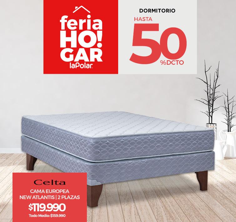 Feria Hogar   Hasta 50% dcto. en Dormitorio   Logos marcas   Diván Flex 1,5 Plazas Colors