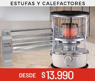 Estufas y Calefactores desde $13990