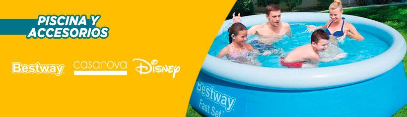 Piscinas y Accesorios   Logo Marcas: Bestway - Casanova - Disney