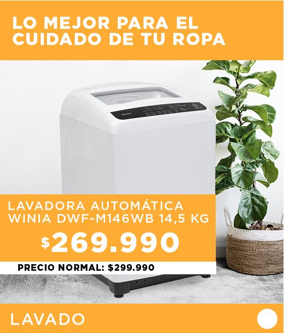 | Lavadora Automática Winia DWF-E81W 8 kg.
