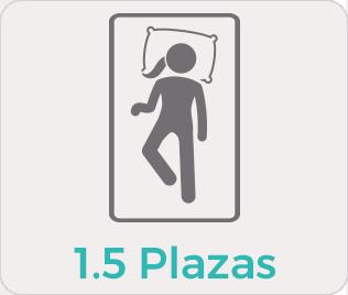 1,5 plazas