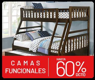 camas funcionales hasta 60% descuento