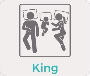 tamaño king